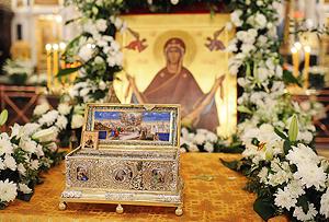 Ковчег с Поясом Пресвятой Богородицы